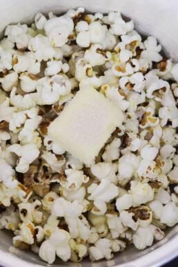 Beurre dans pop corn