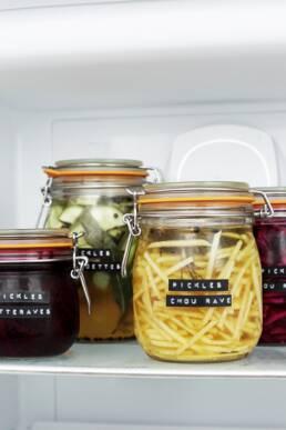 Conservation pickles au réfrigérateur