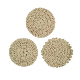 Cadeau écologique lot de 3 disques démaquillants lavables