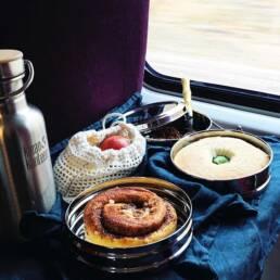 Repas zéro déchet dans le train