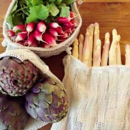 Légumes dans sac filet